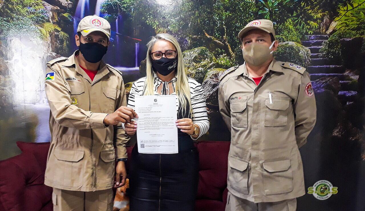 Vereadora Márcia Socorristas Animais recebe Equipe do Corpo de Bombeiros