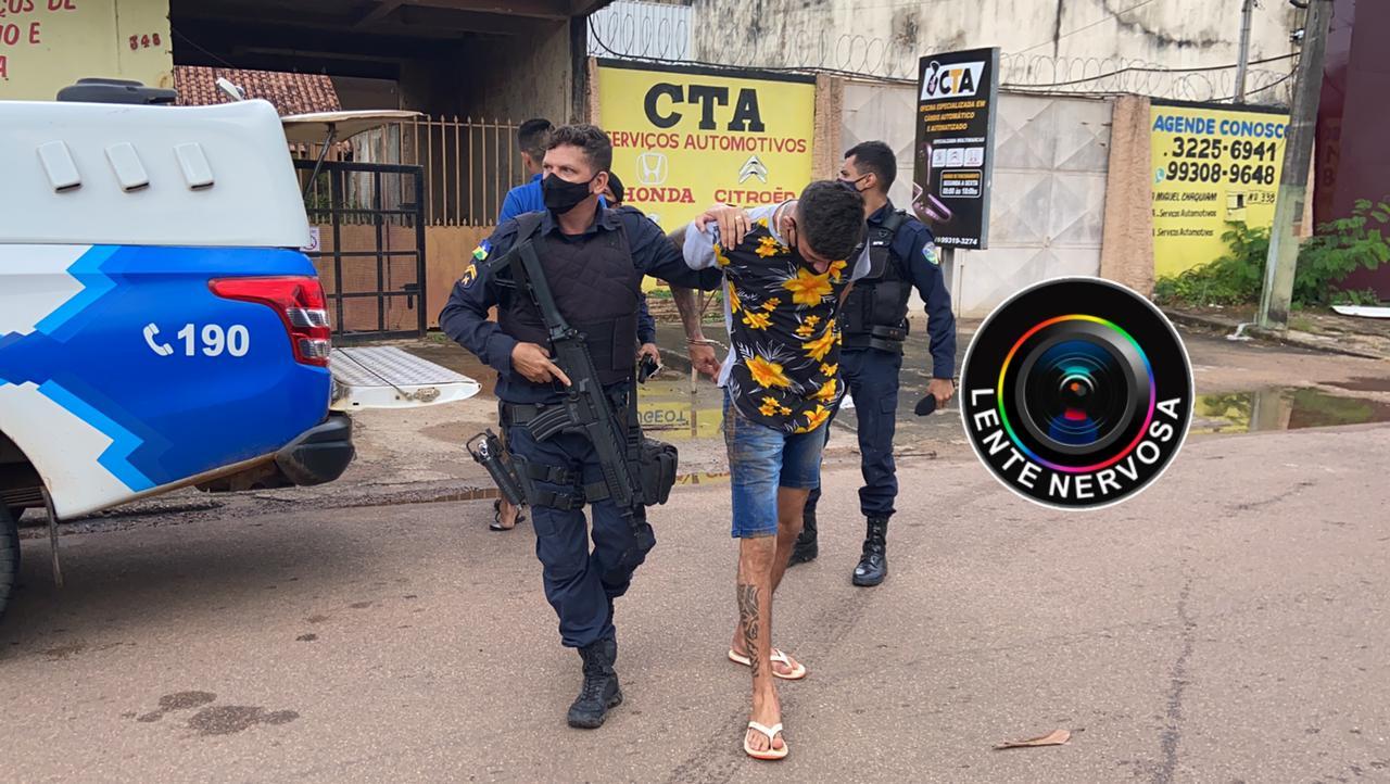 Suspeitos são presos após troca de tiros com a polícia na zona sul da capital