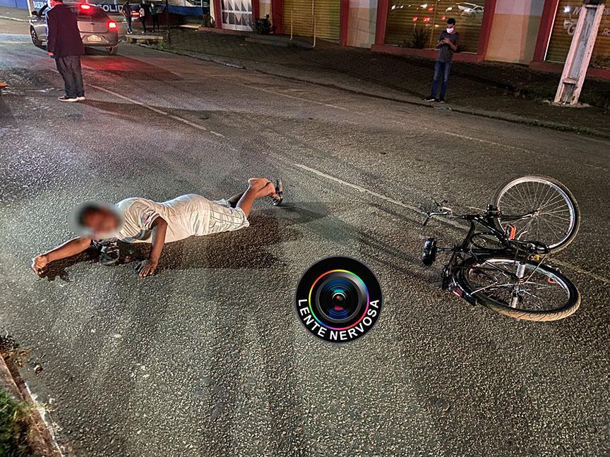 Ciclista é atropelado na Avenida Rio Madeira e motoqueiro foge sem prestar socorro – FOTOS E VÍDEO