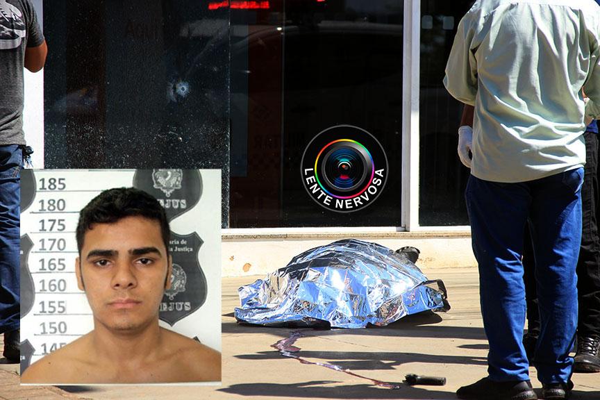 IDENTIFICADO – Criminoso é morto durante assalto em frente à agência bancária