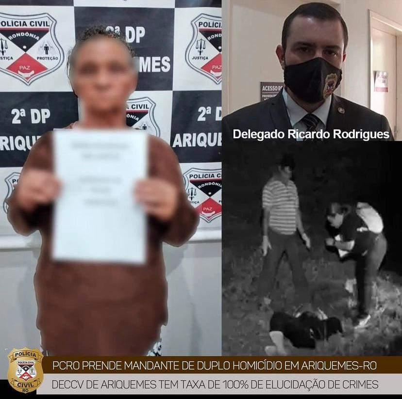 MARIA PISTOLA – Polícia Civil prende idosa de 70 anos suspeita de ser mandante de duplo homicídio em Ariquemes