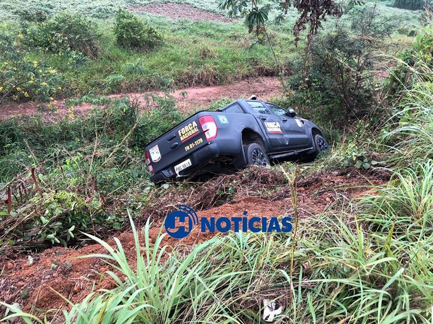Motorista morre ao colidir com viatura da Força Nacional que realizava ultrapassagem na BR-364