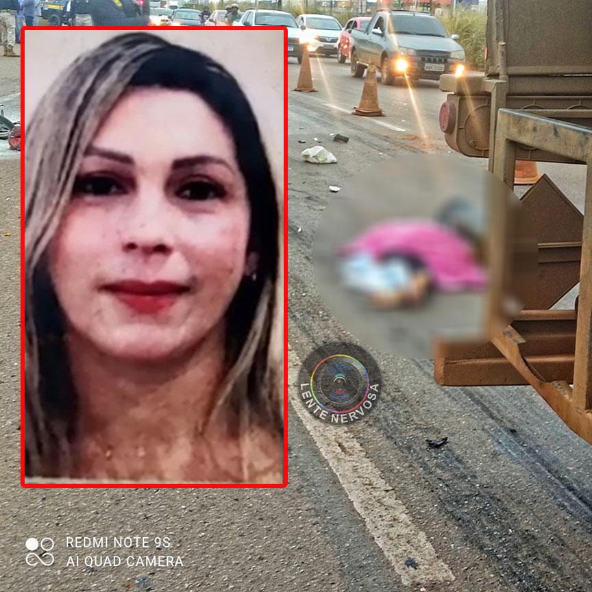 Mulher de 42 anos morre atropelada por carreta na BR-364, na capital