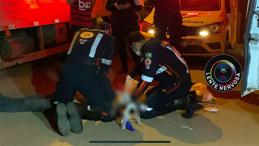 EMOCIONANTE – Vídeo mostra socorristas tentando salvar ciclista atropelado – ASSISTA