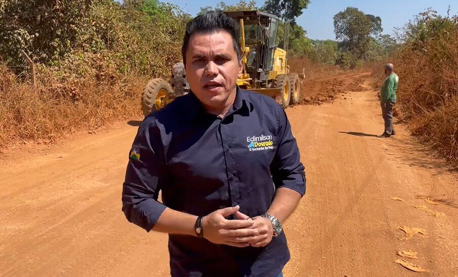 Semagric inicia trabalhos na Colônia Viçosa através de pedidos do vereador Edimilson Dourado