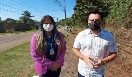 Semusb atende pedido do Vereador Edimilson Dourado e realiza limpeza em ciclovia na Estrada do Santo Antônio