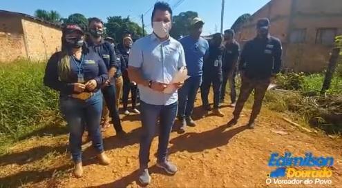 Vereador Edimilson Dourado faz levantamento de serviços em ruas no Bairro Castanheira
