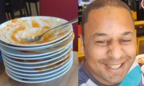 Pintor é expulso de rodízio após comer 23 pratos de massa – VEJA O VÍDEO