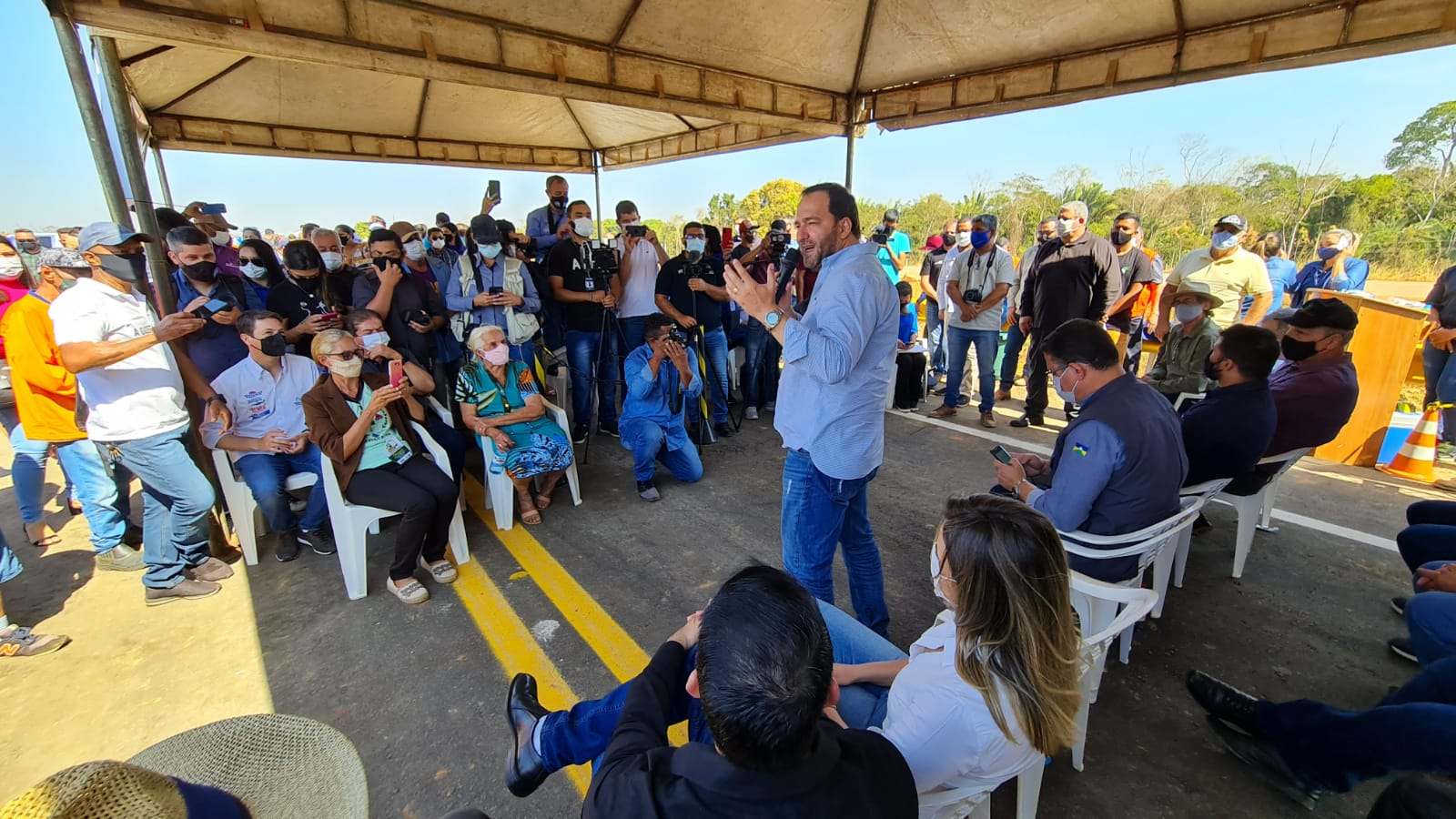 Ponte sobre o Rio Jamari, na BR-421, é entregue e presidente Alex Redano destaca importância da obra
