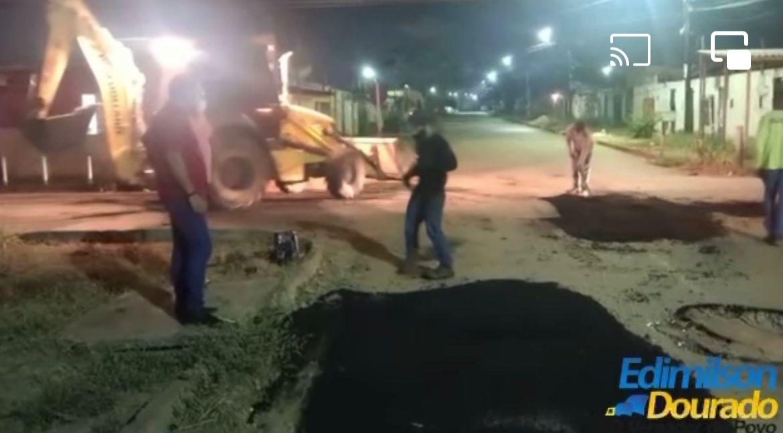 Tapa Buracos é realizado na zona sul a pedido do vereador Edimilson Dourado