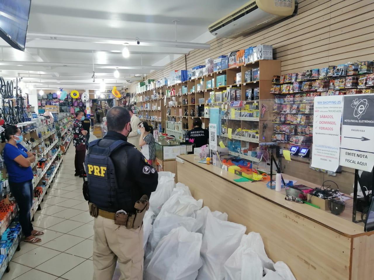 Em Porto Velho/RO, PRF e Receita Federal realizam operação de repreensão ao contrabando e descaminho