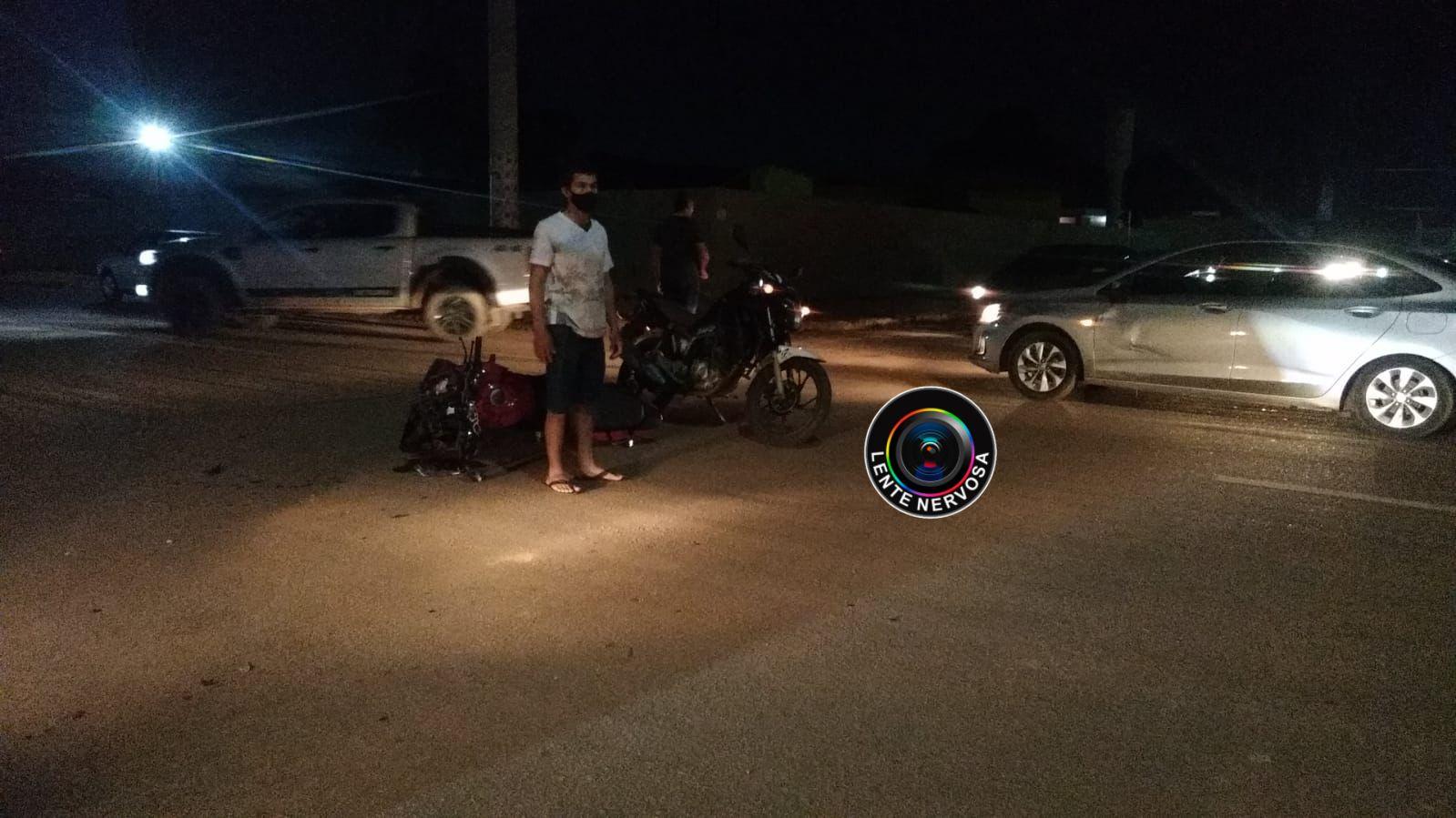 Motociclista é socorrido inconsciente após grave acidente na zona leste