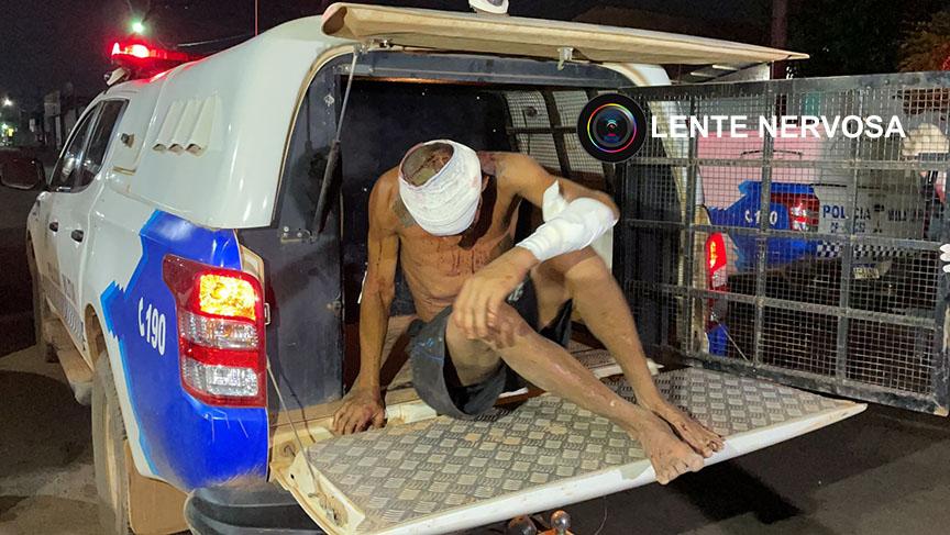 Foragido é preso após ser agredido a golpes de terçado na zona leste