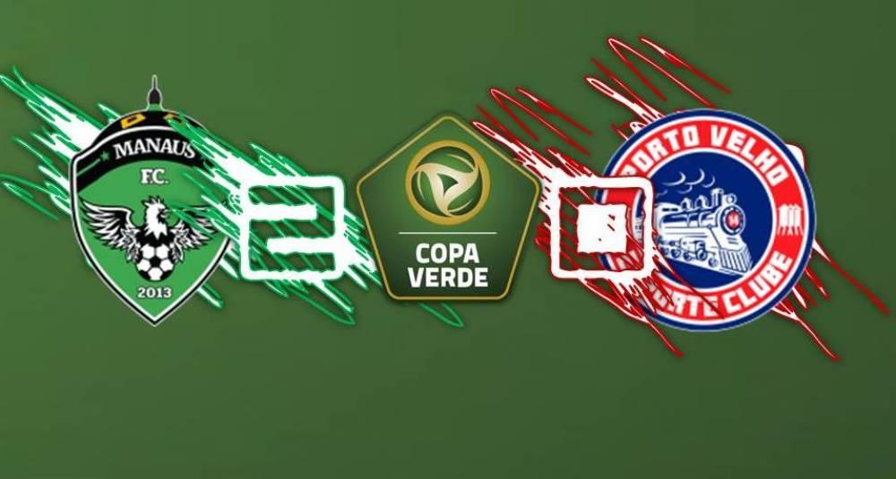 Porto Velho é derrotado pelo Manaus na Arena da Amazônia e dá adeus a Copa do Verde