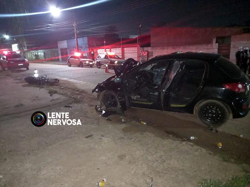 Motorista foge após atropelar e matar casal na zona sul; bebê foi socorrida ao hospital